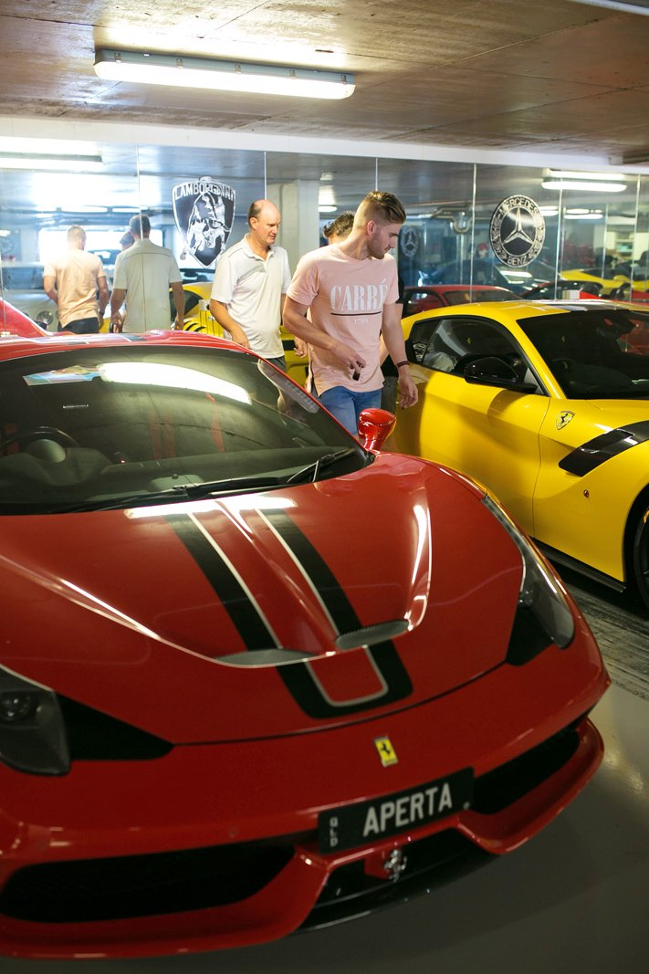 private car collection at sanctuary cove